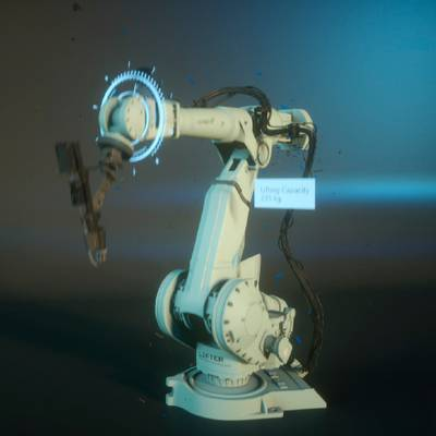 Robot that simulates a 3D animation