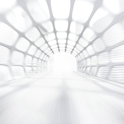 Futuristic picture of a tunnel