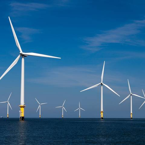 Picture of an offshore wind farm